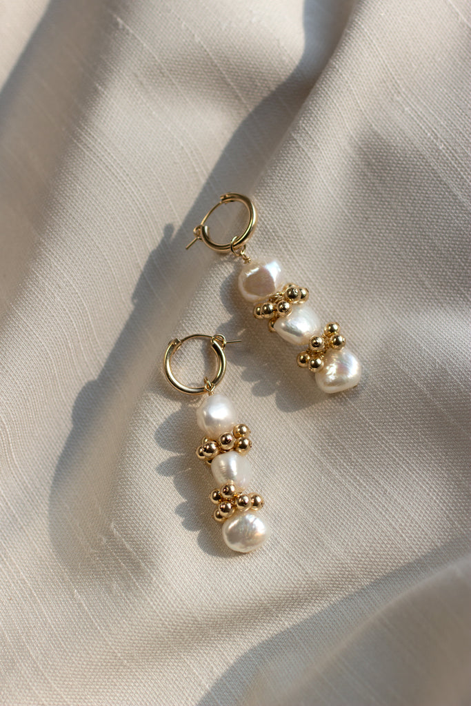 Baroque Eyelet Mini Hoop Earrings