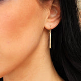 FLAT MODERN BAR EARRINGS