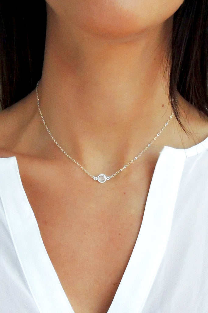 Crystal Solitaire Necklace