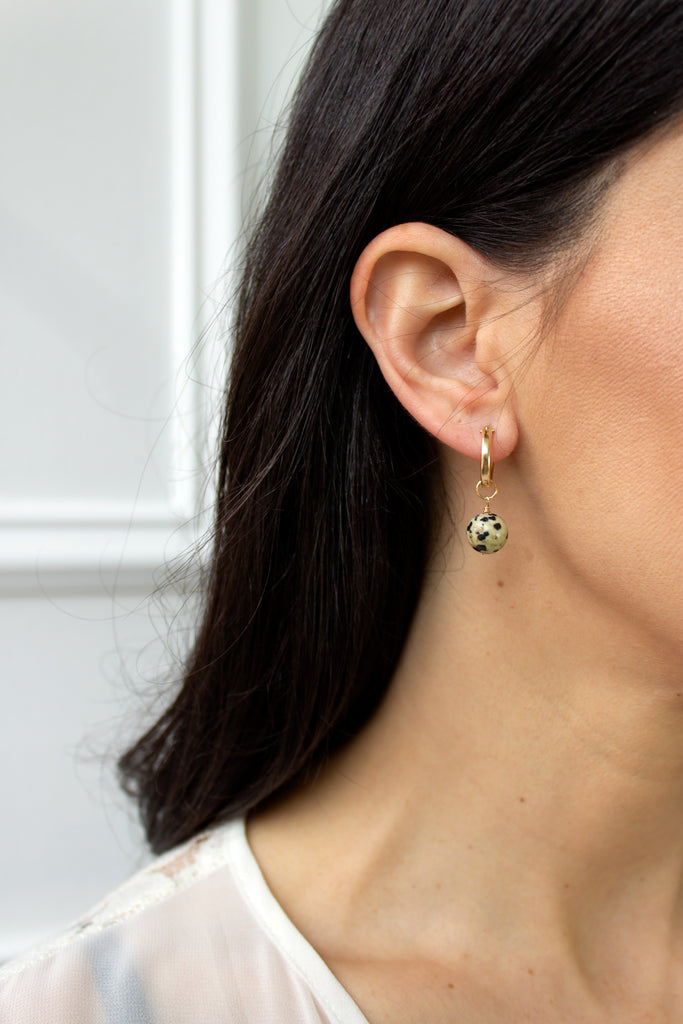 Dalmation Mini Hoop Earrings