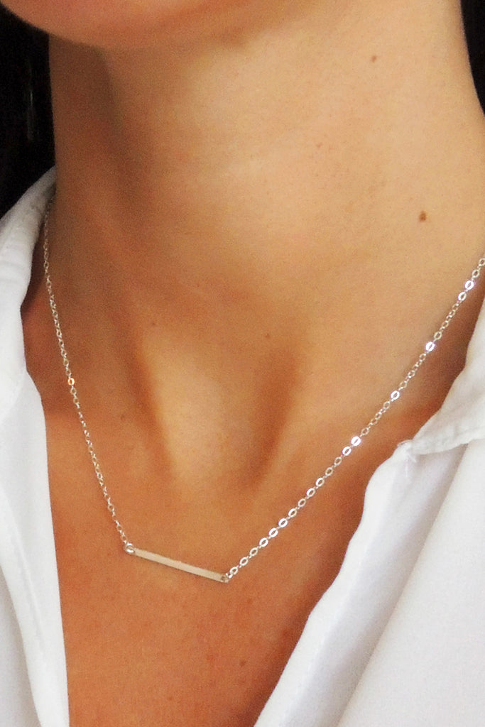 Flat Horizontal Bar Necklace