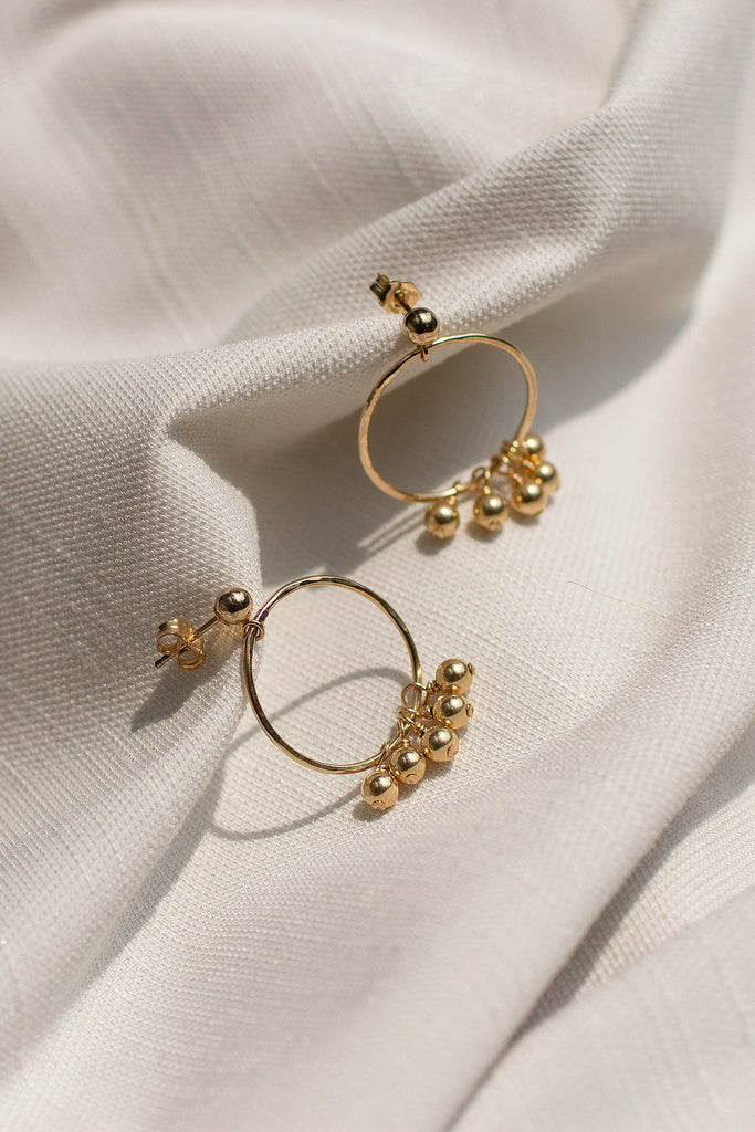 Gold Dust Hoop Earrings