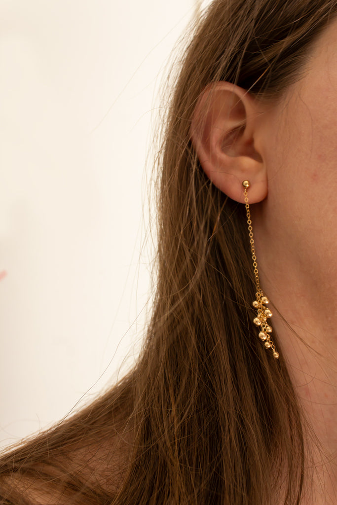 Gold Dust Long Earrings