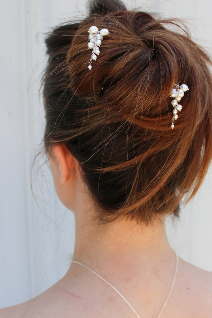 Pearl Tendril Hair Pin - set of 3