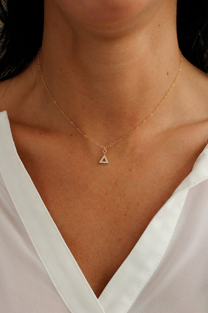 Shining Pyramids Necklace