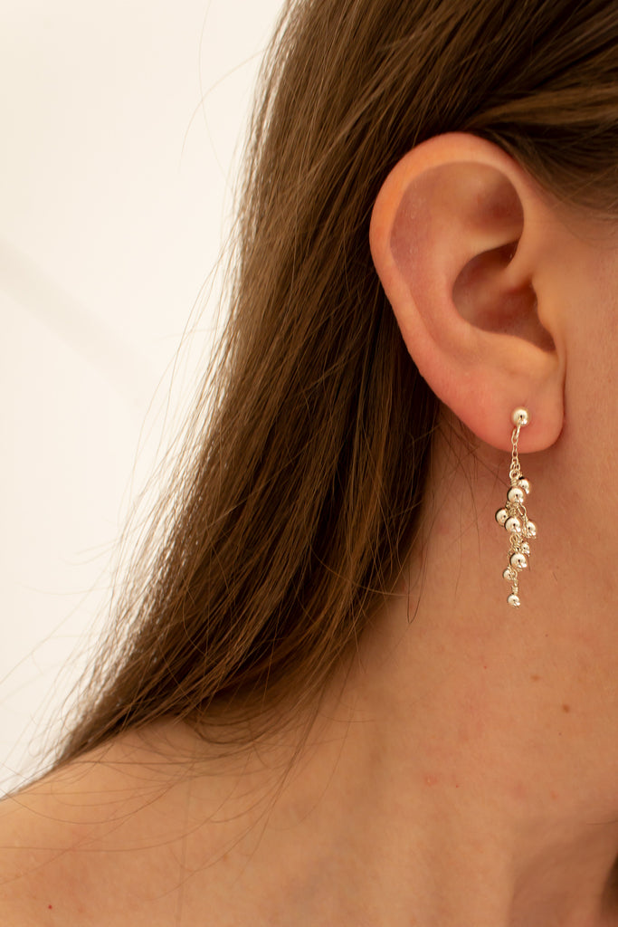 Silver Dust Petite Earrings