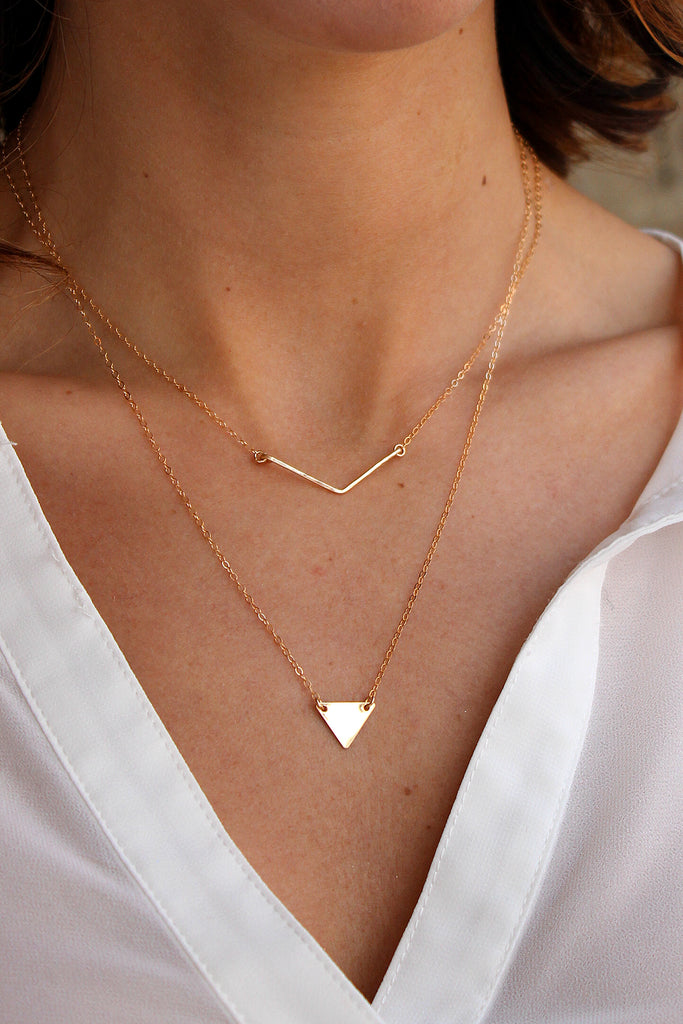 Solid Mini Triangle Necklace
