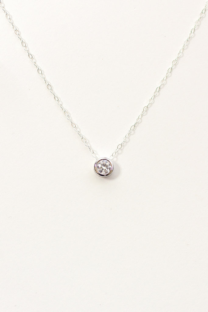 Suspended Solitaire Necklace