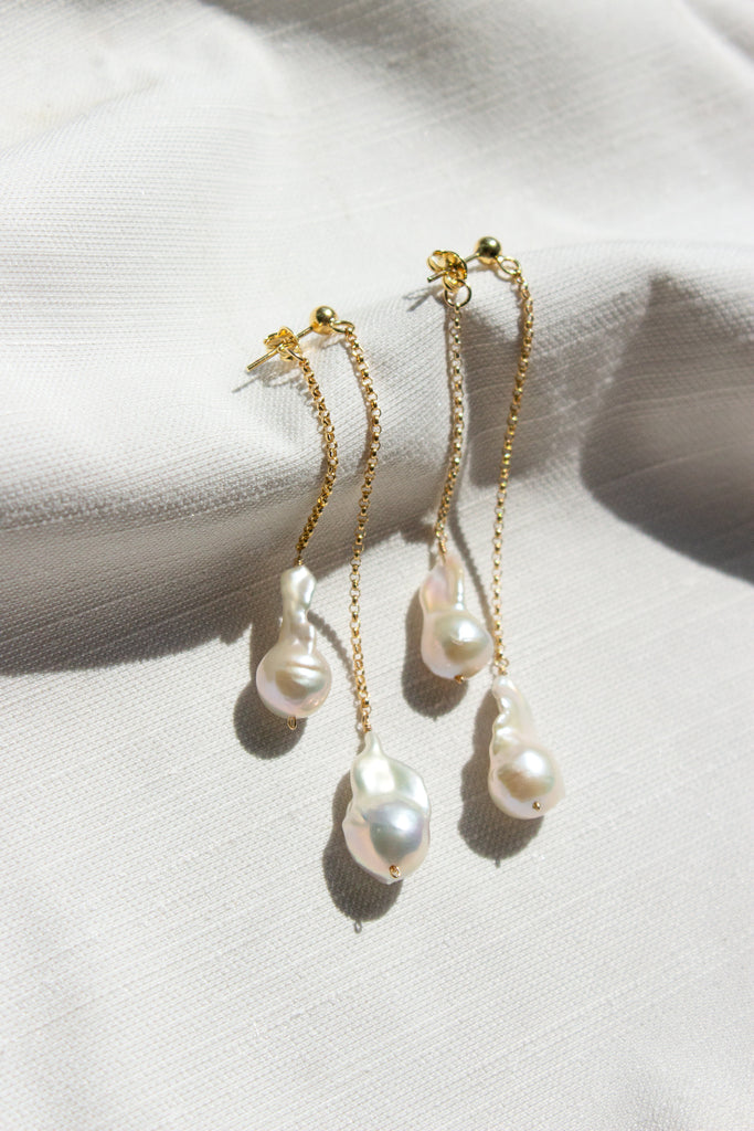 Waterfall Pearl 360 Earrings