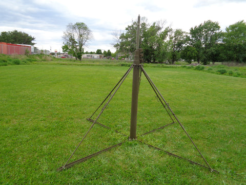 MILITARY PORTABLE 23 FOOT CRANK UP ANTENNA TOWER ALL ALUMINUM CONSTRUCTION
