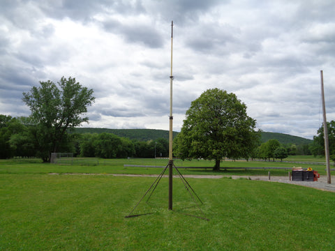 MILITARY PORTABLE 23 FOOT CRANK UP ANTENNA TOWER ALL ALUMINUM CONSTRUCTION UNUSED SURPLUS