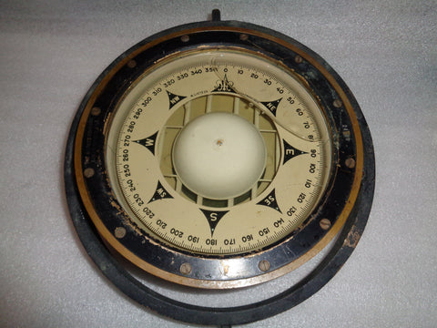 WORLD WAR II LIBERTY SHIP BINNACLE MAGNETIC COMPASS