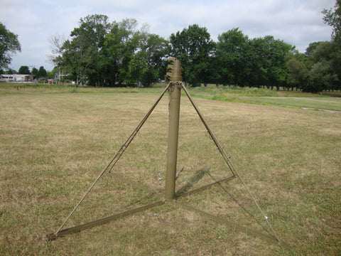 MILITARY PORTABLE 23 FOOT CRANK UP ANTENNA TOWER ALL ALUMINUM CONSTRUCTION  USED SURPLUS CONDITION