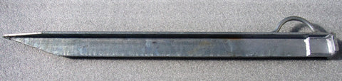 "Mil-Spec Heavy Duty 30"" Long Galvinezed Steel Guy Cable Anchor Stake"