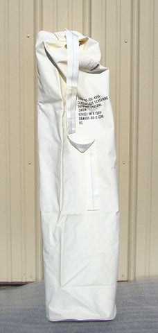 Military Antenna Mast Pole Rubberized Carry Bag White