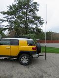 "Universal Vehicle Antenna Mast 2"" Receiver Hitch Mount Will Work With Antenna Mast O.D. 1/2"" to 2"""