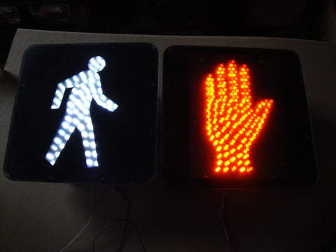 WALK / DO NOT WALK LIGHT UP LED SIGNS