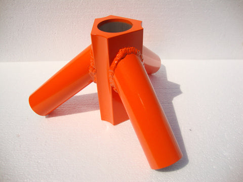 "Antenna Tower Aluminum Tripod Base For Use With Military 48"" Mast Pole - Orange"