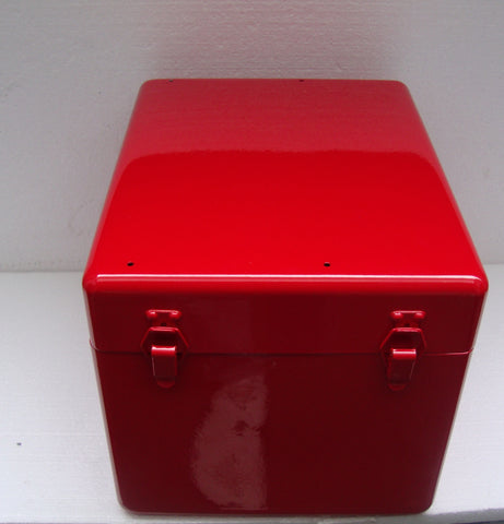 "ALUMINUM PROJECT BOX 13""L X 10""W X 9 1/2""H RED"
