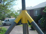 "Antenna Tower Aluminum Tripod Base For Use With Military 48"" Mast Pole - Yellow"