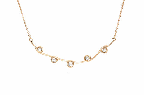Vahina Tahi Paris - INFINITY necklace pink gold