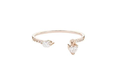 Vahina Tahi Paris - SWING pink gold ring- size 56