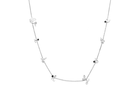 MYSTERY </br>white gold necklace -With Love-