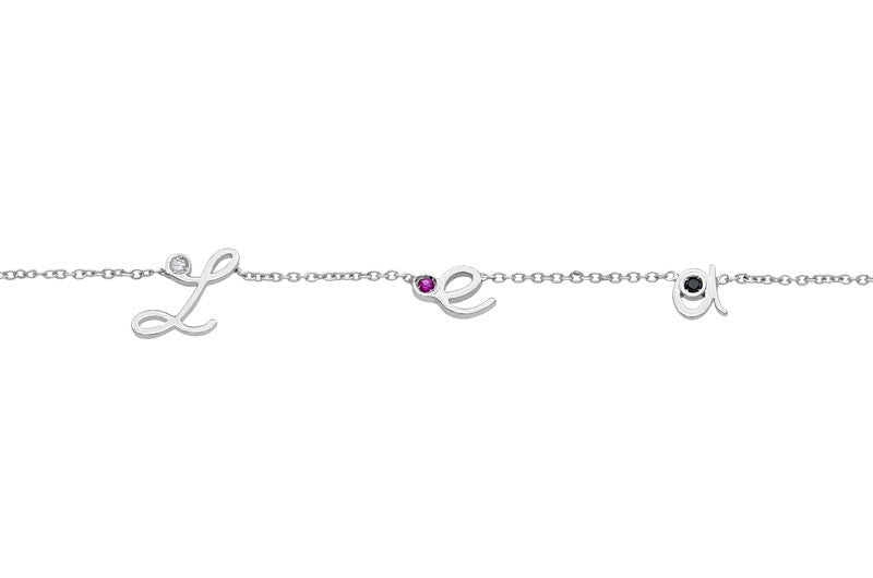MYSTERY </br>white gold necklace -Lea-