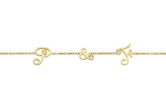 MYSTERY </br>yellow gold necklace -P&F-
