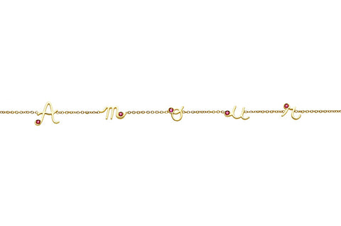 MYSTERY </br>yellow gold necklace -Amour-