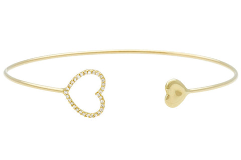 Vahina Tahi Paris - PASSION Bangle yellow gold small full heart - size 15