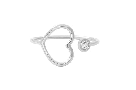 Vahina Tahi Paris - PASSION Ring white gold one diamond - size 49
