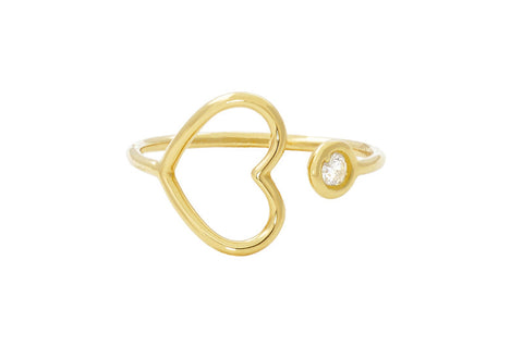 Vahina Tahi Paris - PASSION ring yellow gold one diamond - size 49