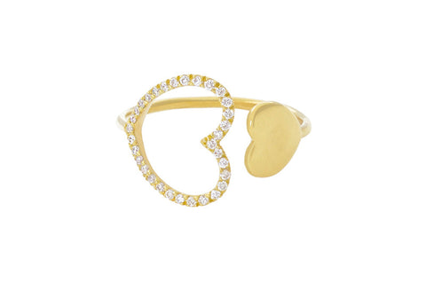 Vahina Tahi Paris - PASSION Ring yellow gold small full heart - size 49