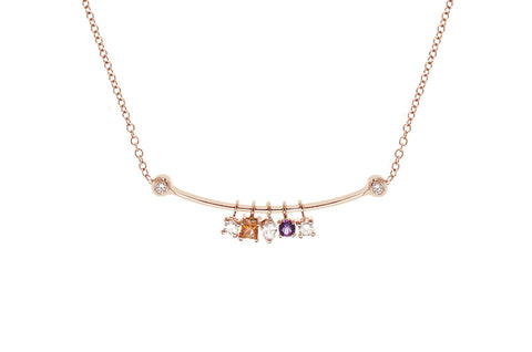 RAINBOW <br />Pink gold necklace