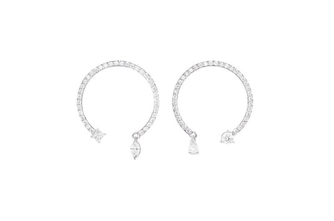 SWING <br />White gold earrings