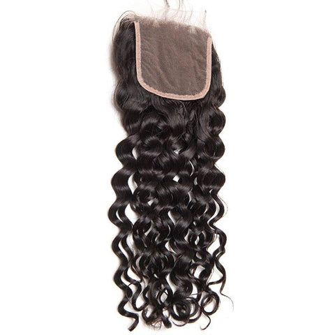 Brazilian Water Wave 4X4 Closure 12A Three Parts SKU CL-3P WW