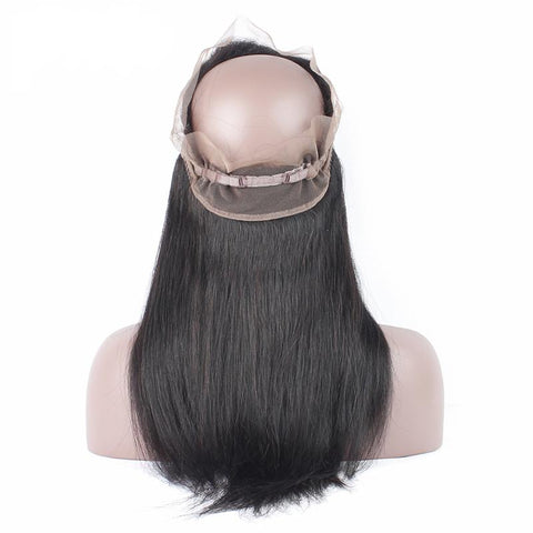 Brazilian 360 Straight Weave 12A Closure SKU CLOSURE 360 STW