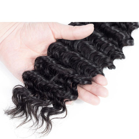 Beau-Diva 9A Brazilian Hair Deep Weave Human Hair Black SKU HH DEEP WEAVE