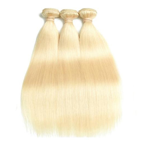 Beau-diva 10A Peruvian Hair Straight Hair 3 Bundles 613 Blonde Color SKU DS 613 3STW Hotdot.co.za
