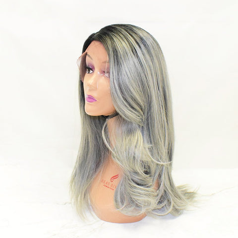 Ombré Wig SALE Sapphire LULU Synthetic 14 inches GRAY | buyfast