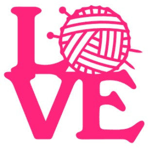 Love Knitting Vinyl Decal