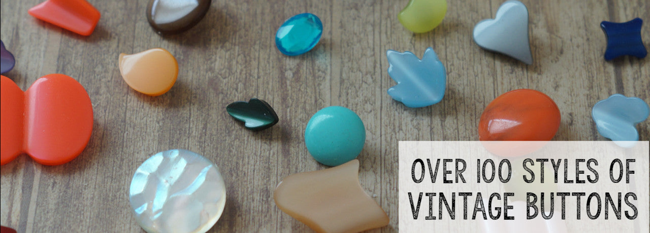Vintage Lucite Buttons to your heart's content