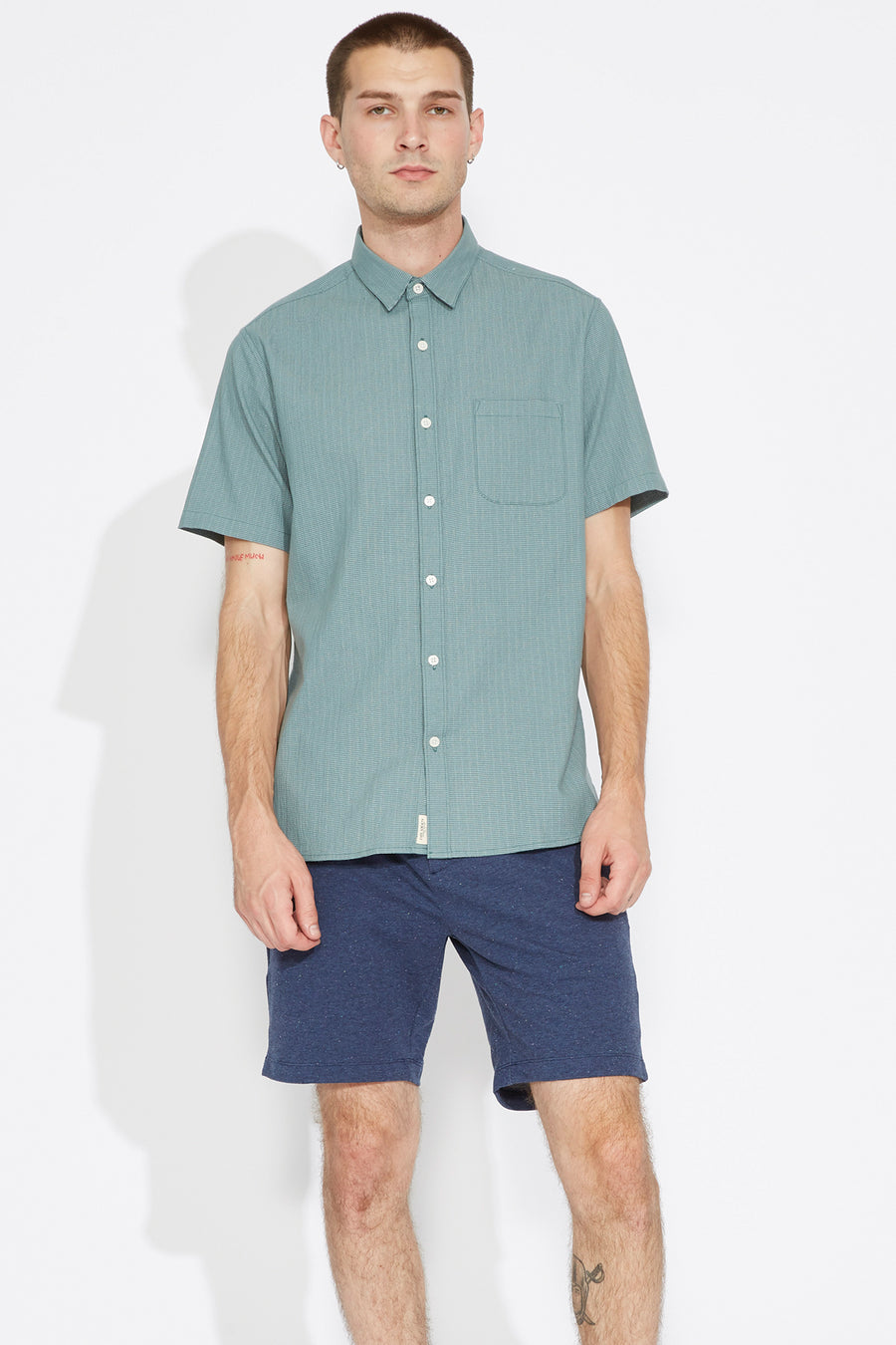Hayford Textured Stretch Shirt (Lagoon)
