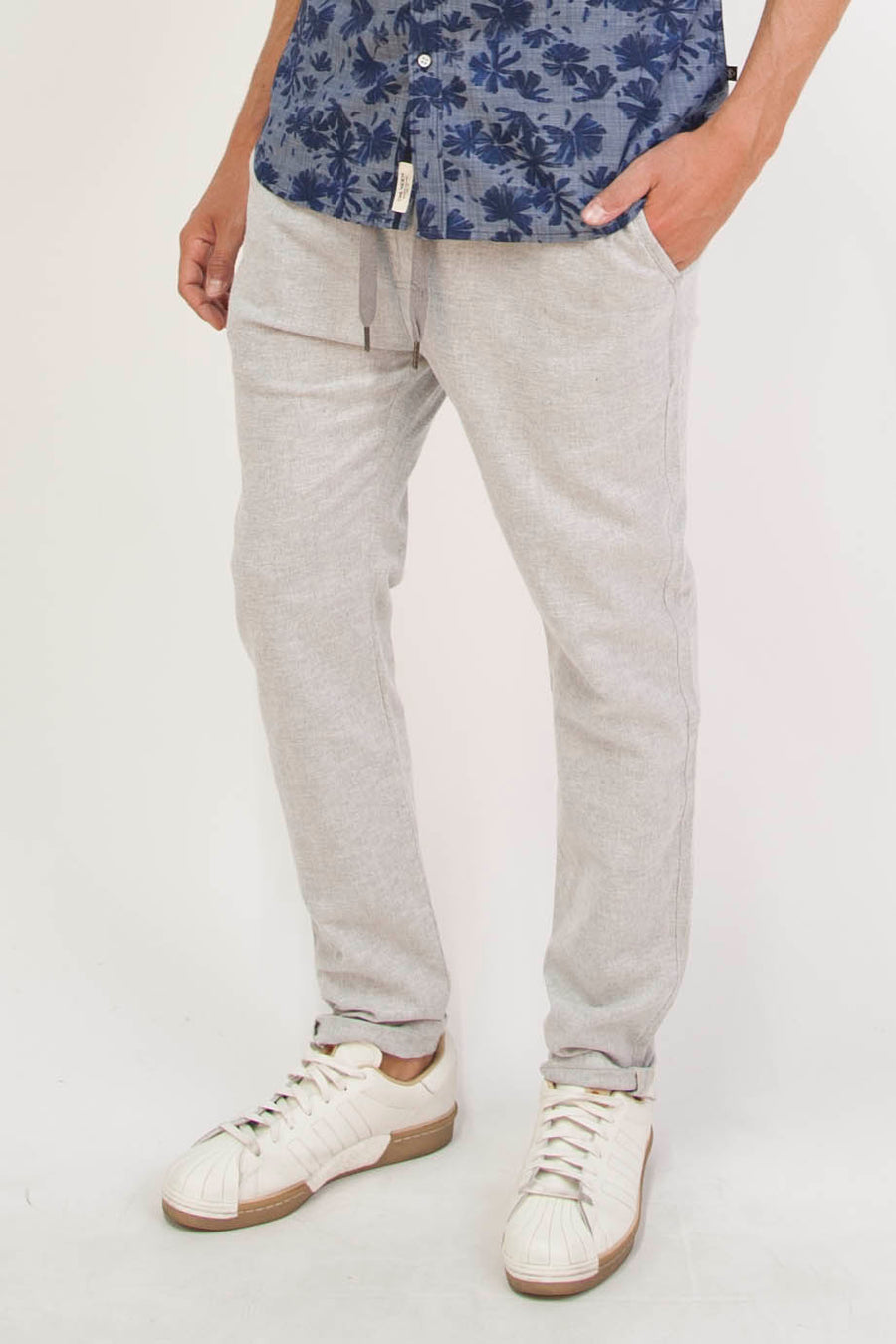 Grossman Tailored Stretch Chino Pants (Dark Gray)