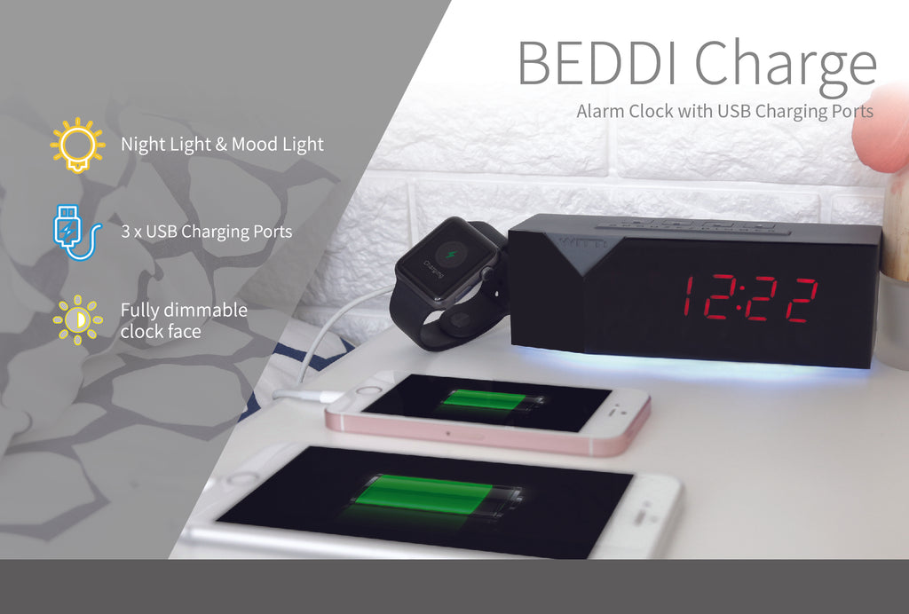 BEDDI Charge Alarm Clock