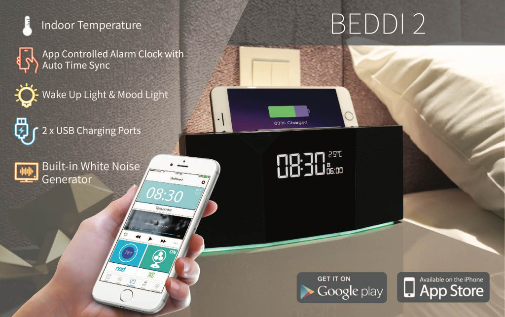 BEDDI 2 - New Smart Alarm Clock with Bluetooth speaker