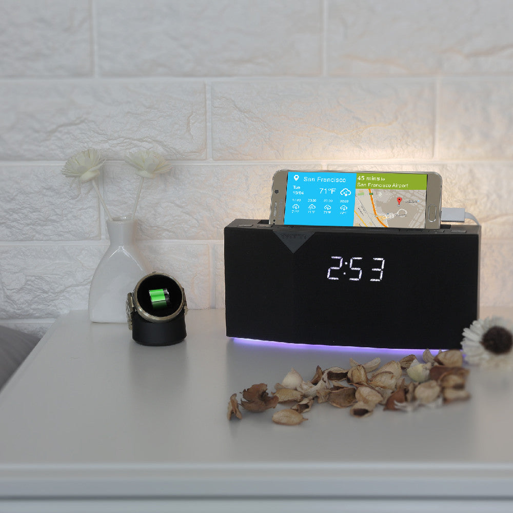 BEDDI - Smart Intelligent Alarm Clock - Back light and bottom mood light