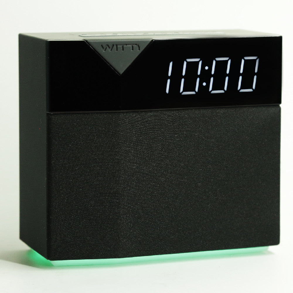 BEDDI STYLE - Alarm Clock and speaker with Changeable Faceplate - Original black