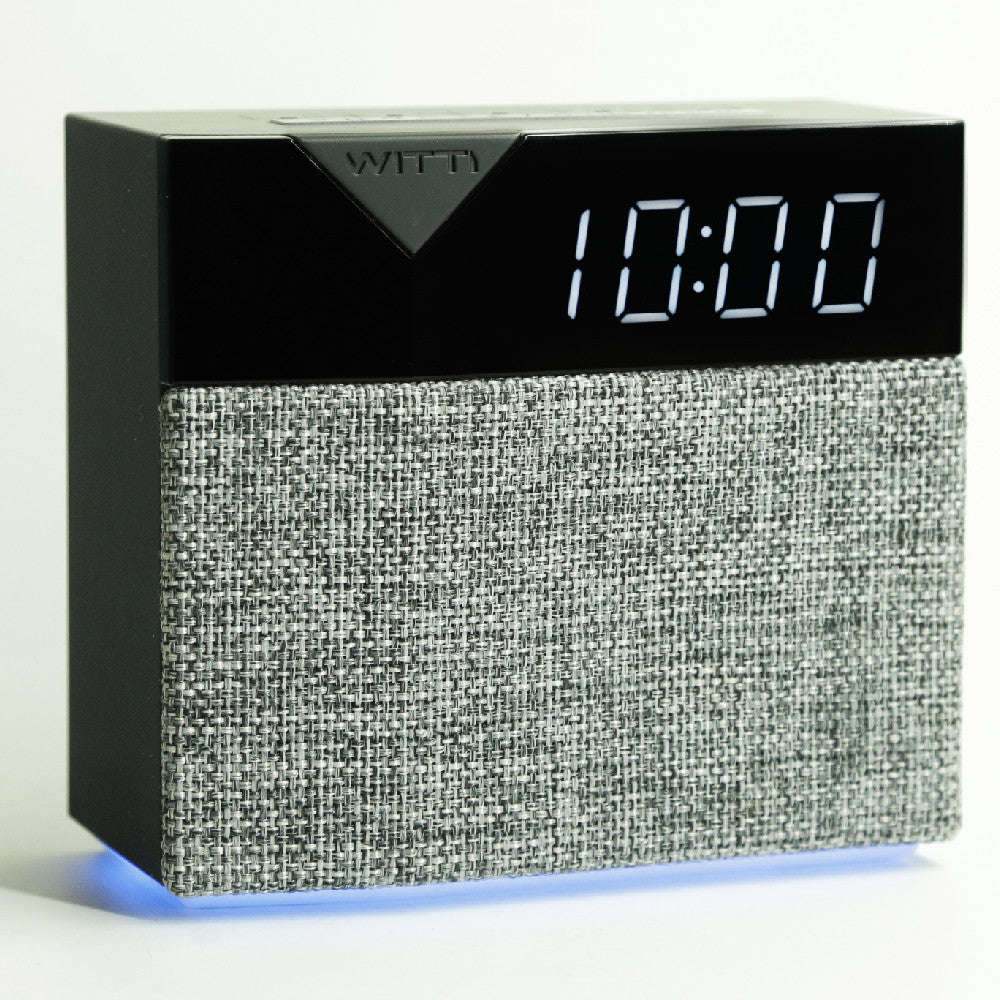 BEDDI STYLE - Alarm Clock and speaker with Changeable Faceplate - grey